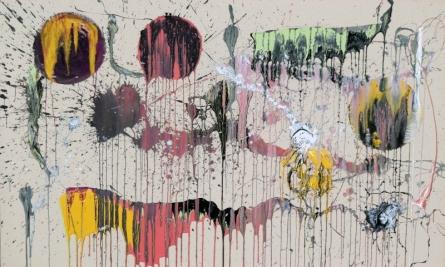 Abstract Acrylic Art Painting title 'Untitled 92' by artist Sumit Mehndiratta