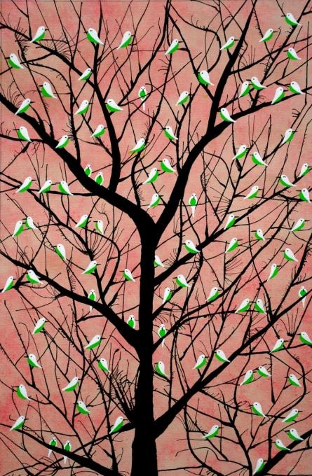 Sumit Mehndiratta | Acrylic Painting title Vriksh Vaig on Canvas | Artist Sumit Mehndiratta Gallery | ArtZolo.com