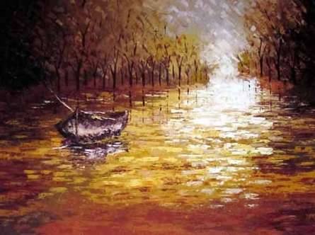 The Reflection | Painting by artist Ganesh Panda | acrylic | Canvas