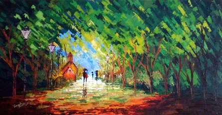 Nature | Painting by artist Ganesh Panda | Acrylic | Canvas