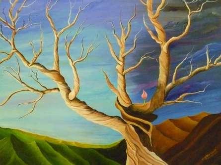 Landscape Acrylic Art Painting title New Birth by artist Subodh Maheshwari