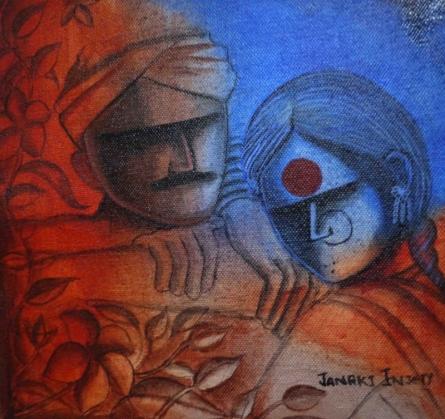 Paradise | Painting by artist Janaki Injety | acrylic | Canvas