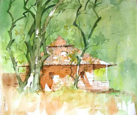 WATERCOLOUR LANDSCAPES | Painting by artist Sachin Naik | watercolor | Handmade Paper