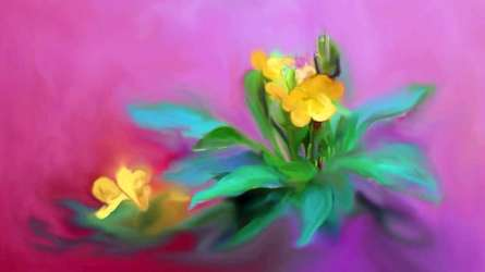 The Kanakaambaram Flower | Digital_art by artist Usha Shantharam | Art print on Canvas