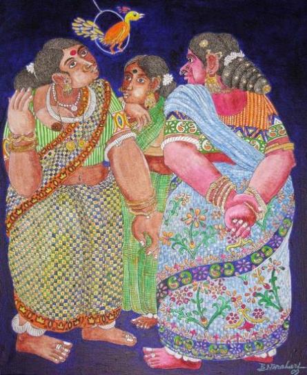 Untitled | Painting by artist Bhawandla Narahari | acrylic | Paper
