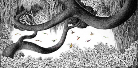 Floating Branches | Drawing by artist Umakant Kanade |  | ink | Canvas