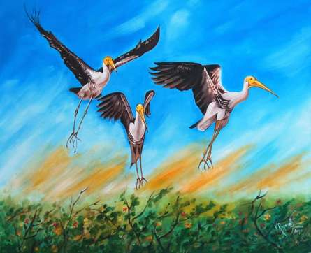 TAKE OFF | Painting by artist RAGUNATH | oil | Canvas