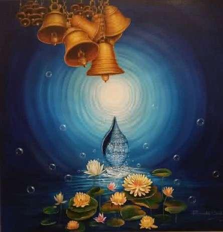 Religious Acrylic Art Painting title Udita by artist Rakhi Baid