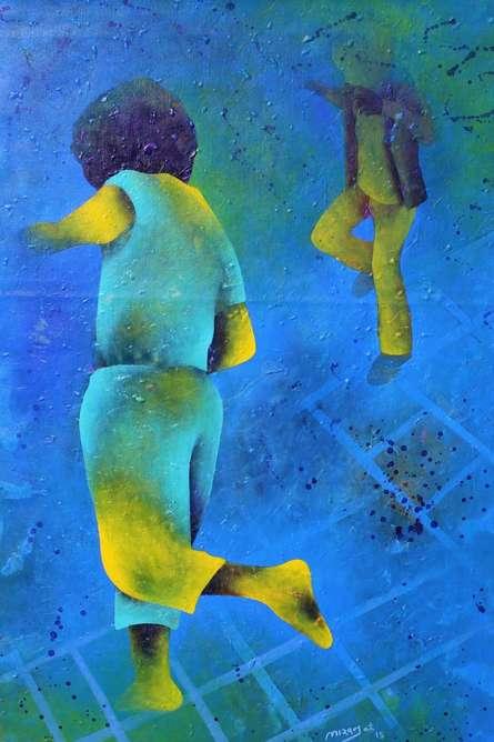 Athkheliya 3 | Painting by artist Lakhan Singh Jat | acrylic | Canvas
