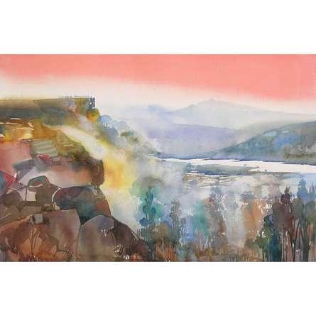 Mindcsape 32 | Painting by artist Sunil Kale | watercolor | Paper