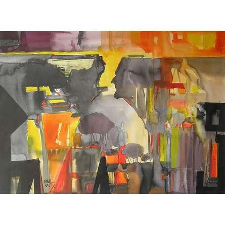 Mindscape 12 | Painting by artist Sunil Kale | watercolor | Paper