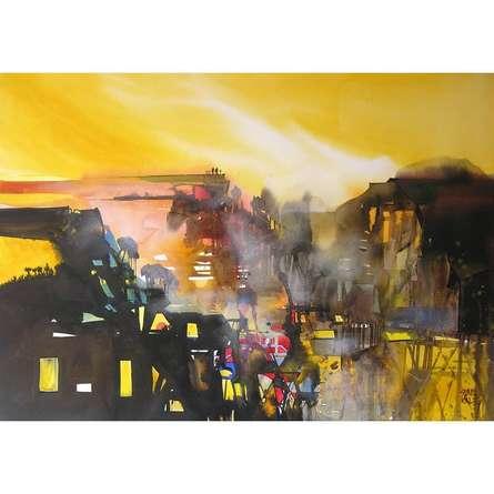 Mindscape 7 | Painting by artist Sunil Kale | watercolor | Paper