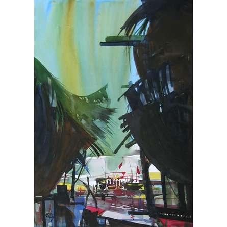 Ocean moods 1 | Painting by artist Sunil Kale | watercolor | Paper