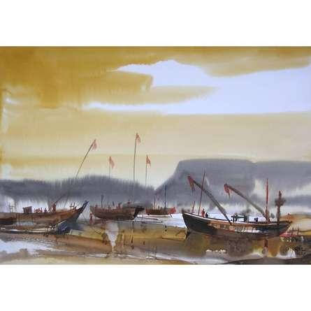 Ocean moods 12   Painting by artist Sunil Kale   watercolor   Paper