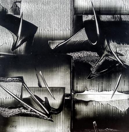 Ramesh Kher Paintings | Mixed-media Painting - Nature 11 by artist Ramesh Kher | ArtZolo.com