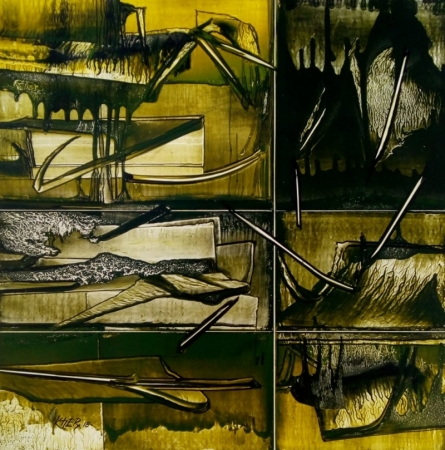 Ramesh Kher | Mixed-media Painting title Nature 8 on Paper | Artist Ramesh Kher Gallery | ArtZolo.com