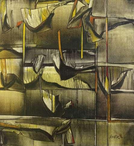 Fantasy Oil Art Painting title 'Ptg ' by artist Ramesh Kher