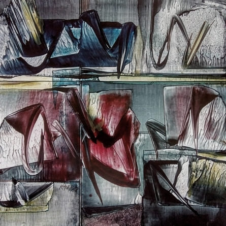 Abstract Oil Art Painting title Untitled 10 by artist Ramesh Kher