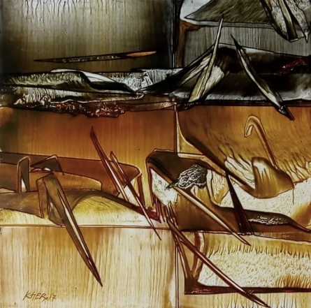 Abstract Oil Art Painting title Untitled 3 by artist Ramesh Kher