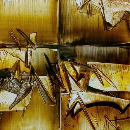 Abstract Oil Art Painting title 'Untitled 5' by artist Ramesh Kher
