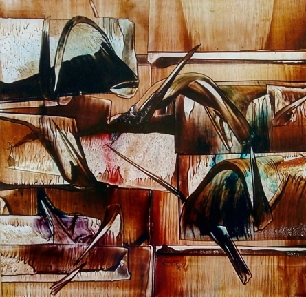 Untitled 6 | Painting by artist Ramesh Kher | oil | Paper