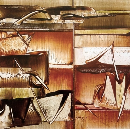 Abstract Oil Art Painting title 'Untitled 7' by artist Ramesh Kher