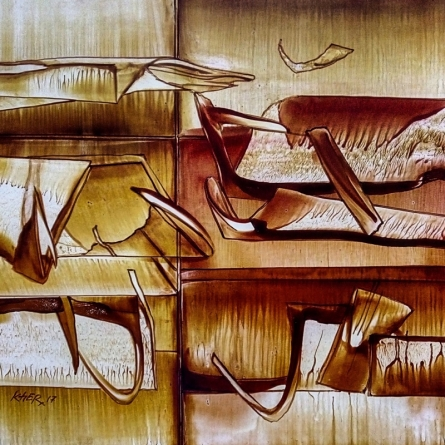 Untitled 9 | Painting by artist Ramesh Kher | oil | Paper