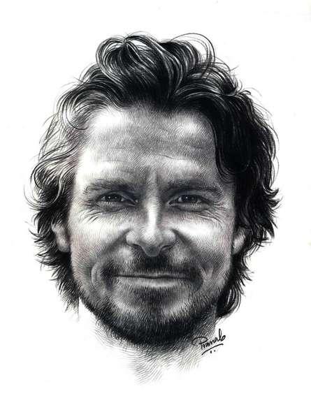 Christian Bale | Drawing by artist Pranab Das | | pencil | Paper