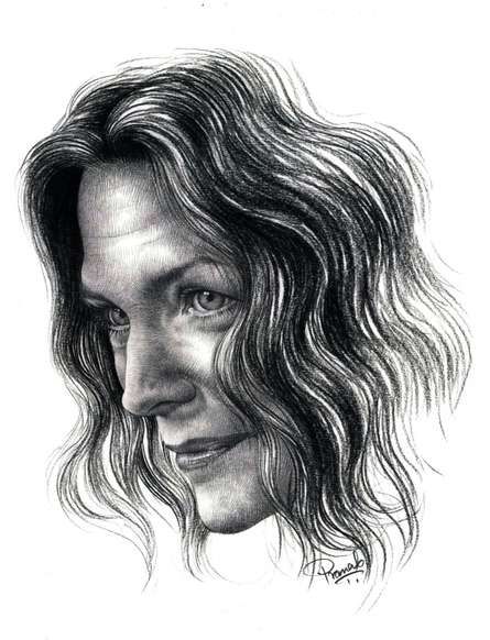Portrait Pencil Art Drawing title 'Michelle Pfeiffer' by artist Pranab Das