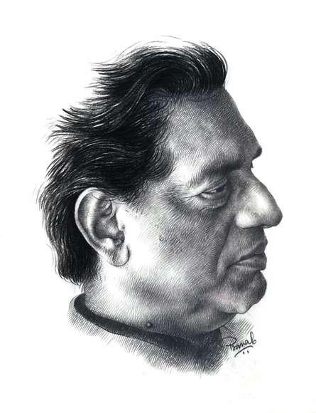 Portrait Pencil Art Drawing title 'Ray' by artist Pranab Das