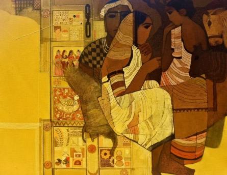 Figurative Acrylic Art Painting title Door by artist Siddharth Shingade