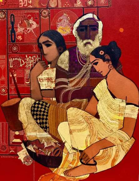 Family | Painting by artist Siddharth Shingade | acrylic | Canvas