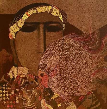 Figurative Acrylic Art Painting title Gold Fish 1 by artist Siddharth Shingade