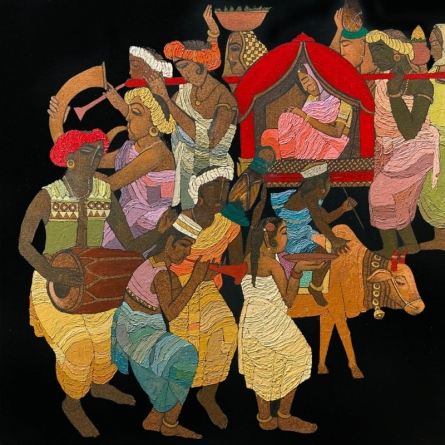 Religious Acrylic Art Painting title Procession Series 2 by artist Siddharth Shingade