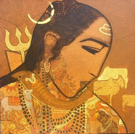 Shiva | Painting by artist Siddharth Shingade | acrylic | Canvas