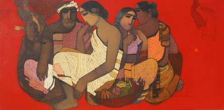 Figurative Acrylic Art Painting title 'Toy Seller II' by artist Siddharth Shingade