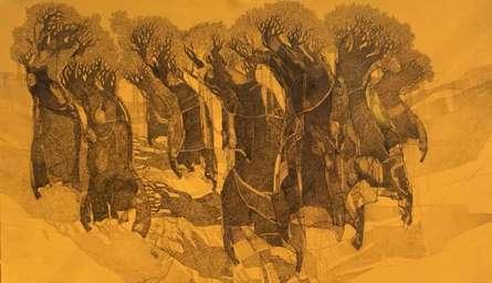 Tree 2 | Painting by artist Siddharth Shingade | mixed-media | Canvas