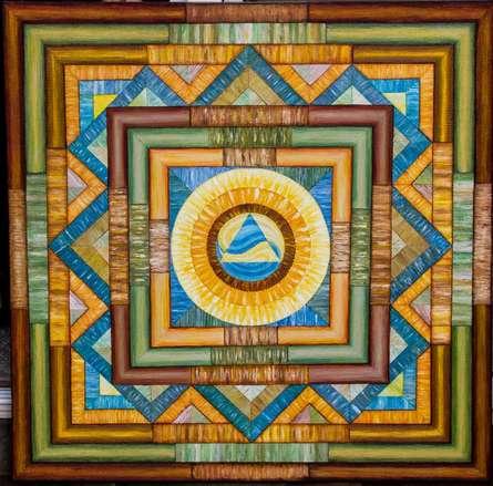 Yin-yang Mandala..36x 36 | Painting by artist Manju Lamba | acrylic | Yin-Yang Mandala.