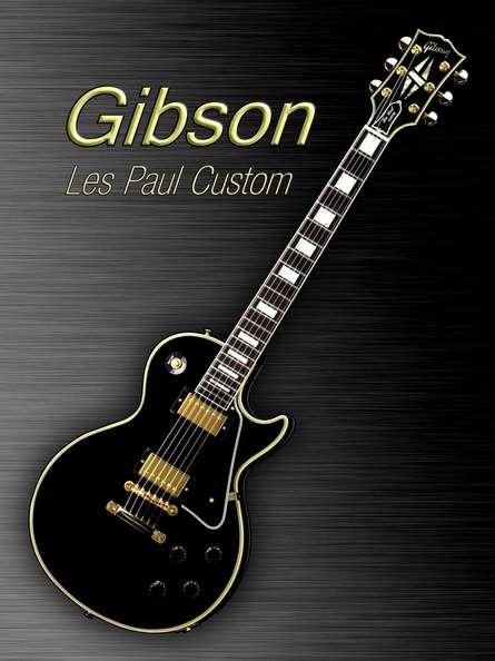 Black Gibson Les paul Custom | Photography by artist Shavit Mason | Art print on Canvas