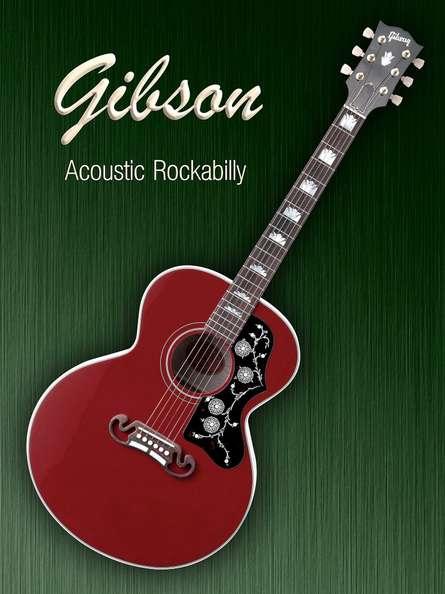 Gibson Acoustic Rockabilly | Photography by artist Shavit Mason | Art print on Canvas