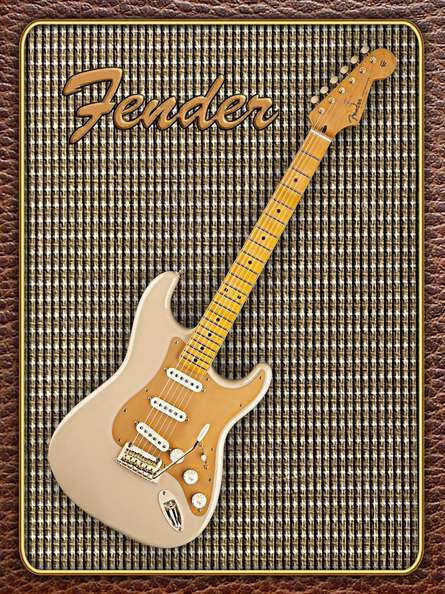 Fender Stratocaster Classic Player | Photography by artist Shavit Mason | Art print on Canvas