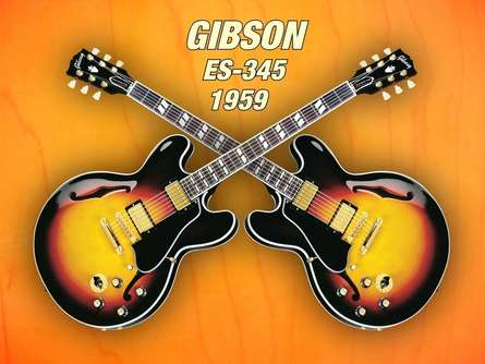 Shavit Mason | Double gibson - es - 345 1959 Photography Prints by artist Shavit Mason | Photo Prints On Canvas, Paper | ArtZolo.com