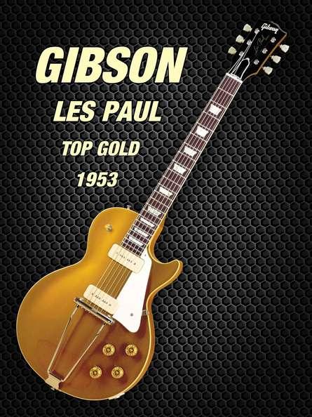 Gibson les paul top gold 1953 | Photography by artist Shavit Mason | Art print on Canvas