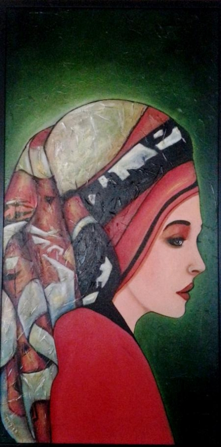 East European Lady | Painting by artist Parul V Mehta | oil | Canvas