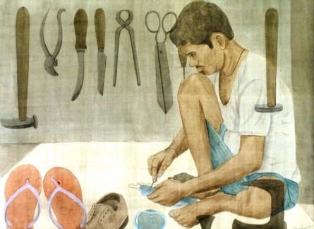 Mochi | Painting by artist Gulab Kapadiya | watercolor | Paper