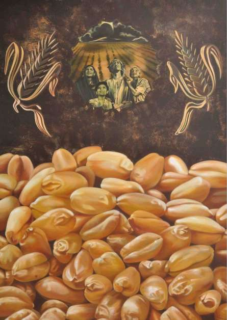 Fantasy Mixed-media Art Painting title Roti by artist Bhavesh Patel