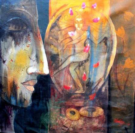 Buddha Ii | Painting by artist Ram Onkar | mixed-media | Canvas