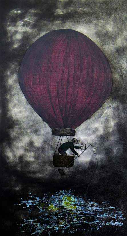 The Grand Escape | Painting by artist Abhishek Verma | other | Paper