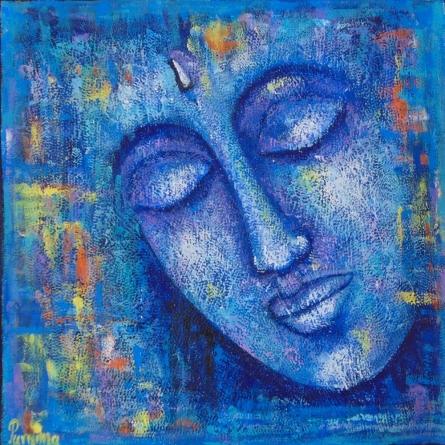 Expressionist Acrylic Art Painting title Nirvana by artist Purnima Gupta