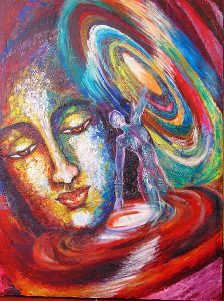 Figurative Acrylic Art Painting title 'Rise and Shine' by artist Purnima Gupta
